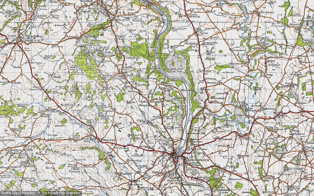 Old Map of Astley Abbotts, 1946 in 1946