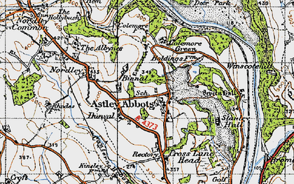 Old map of Astley Abbotts in 1946
