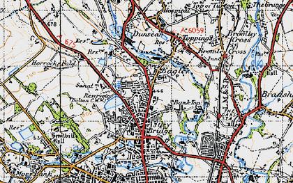 Old map of Astley Bridge in 1947