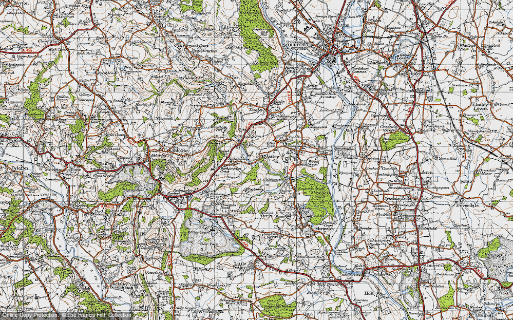 Old Map of Astley Burf, 1947 in 1947