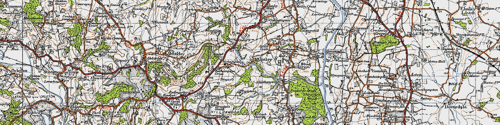 Old map of Astley Burf in 1947