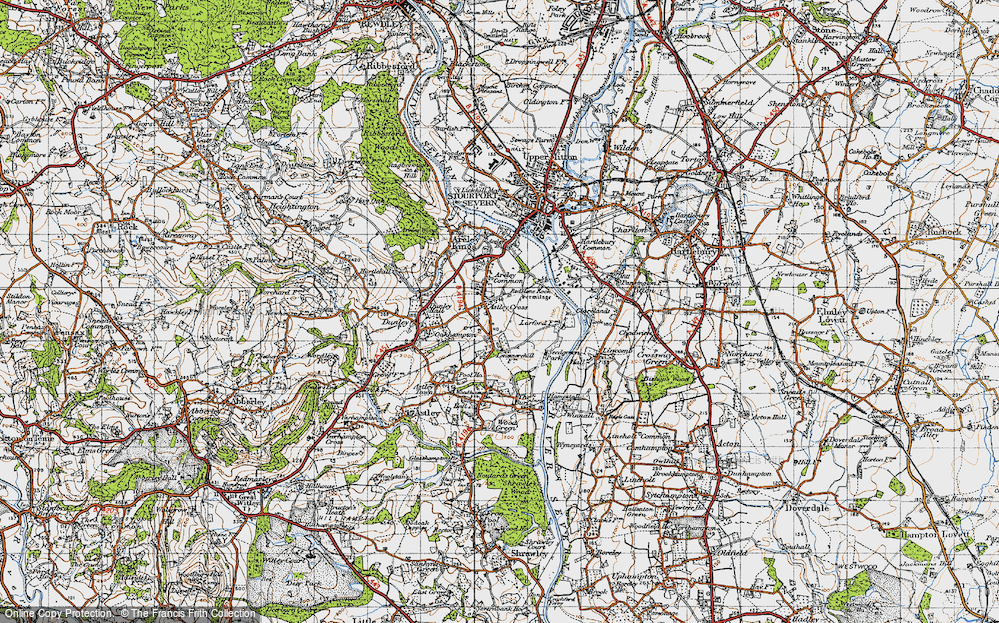 Old Map of Astley Cross, 1947 in 1947