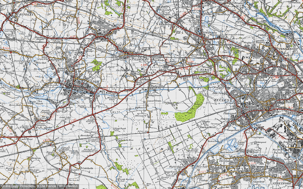 Old Map of Astley Green, 1947 in 1947
