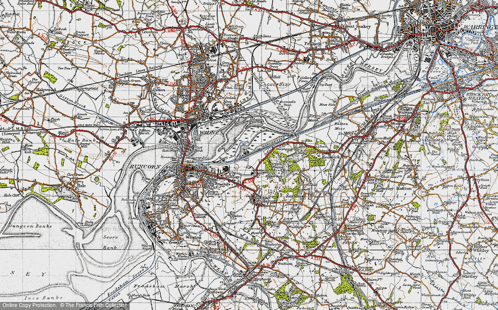 Old Map of Astmoor, 1947 in 1947