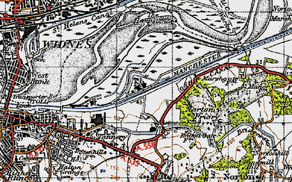 Old map of Astmoor in 1947