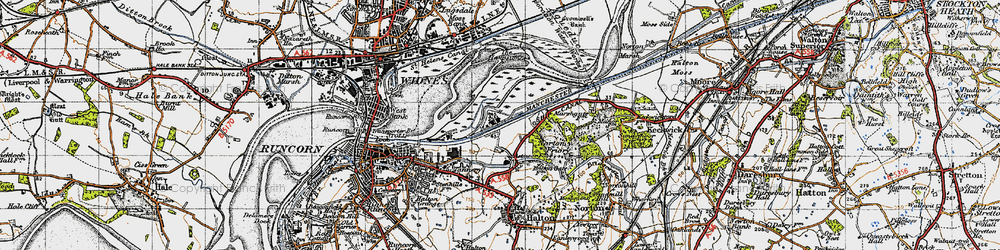 Old map of Wigg Island in 1947
