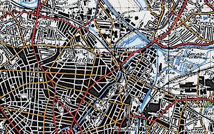 Old map of Aston in 1946