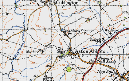 Old map of Aston Abbotts in 1946