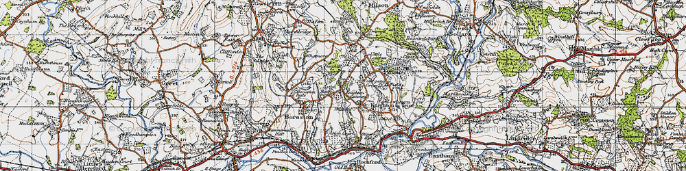 Old map of Aston Bank in 1947