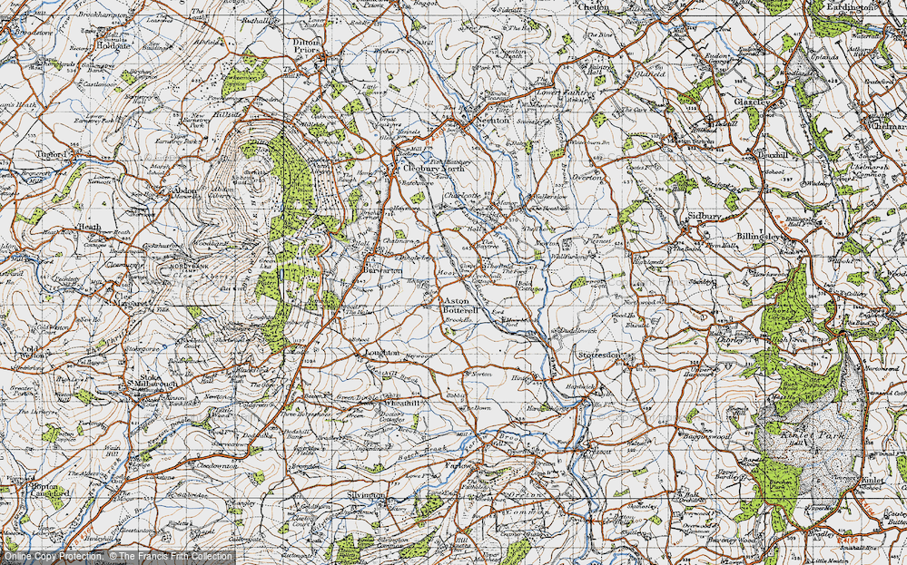 Old Map of Aston Botterell, 1947 in 1947