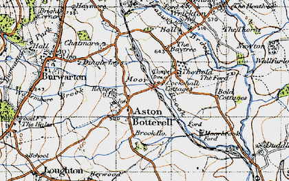 Old map of Aston Botterell in 1947