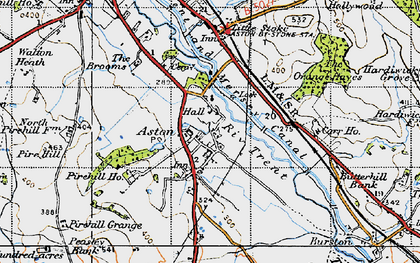 Old map of Aston-By-Stone in 1946