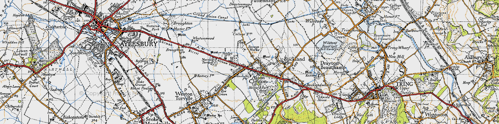 Old map of Aston Clinton in 1946