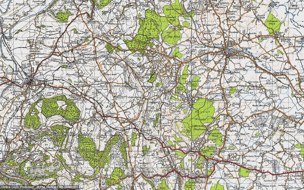 Old Map of Aston Crews, 1947 in 1947