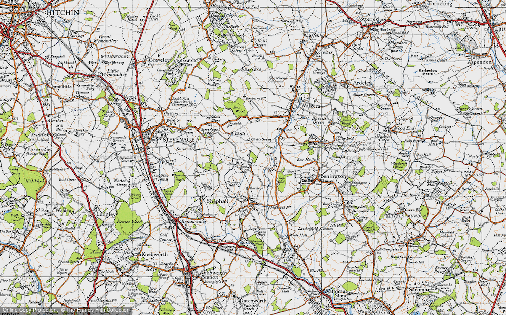 Old Map of Historic Map covering Bareleigh in 1946