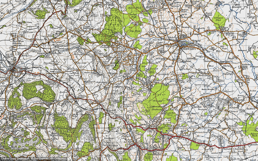 Old Map of Aston Ingham, 1947 in 1947