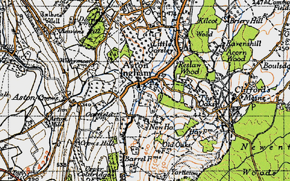 Old map of Aston Ingham in 1947