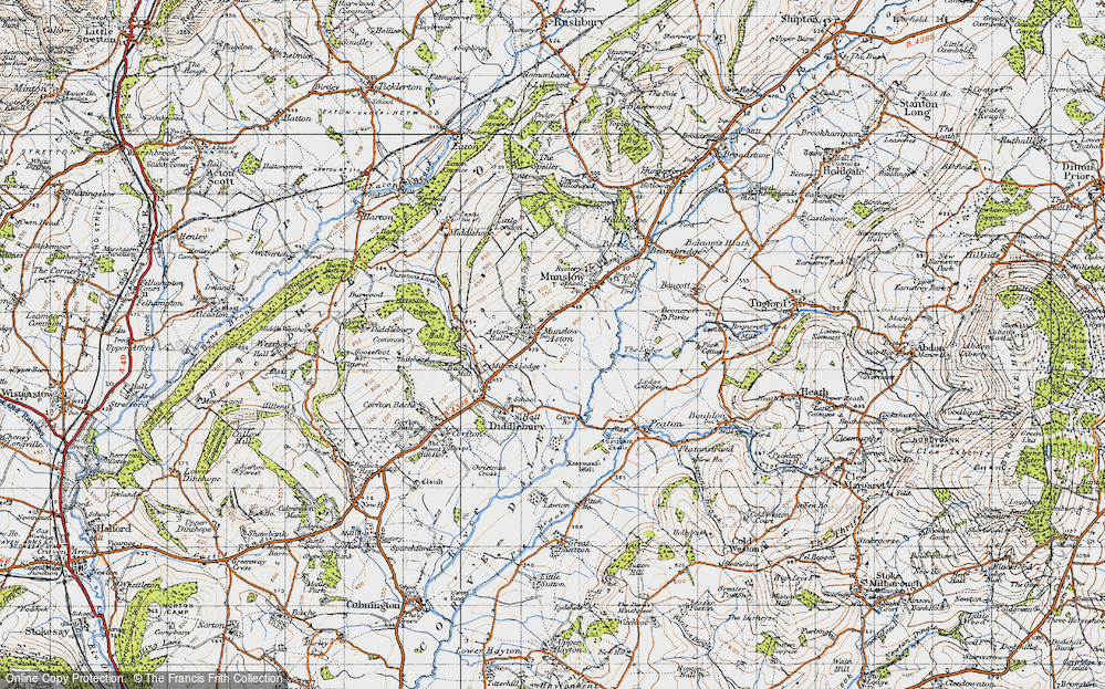 Old Map of Aston Munslow, 1947 in 1947