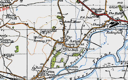 Old map of Aston-on-Trent in 1946