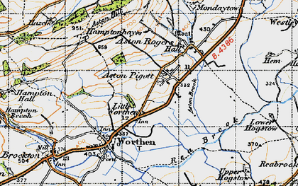 Old map of Aston Hill in 1947