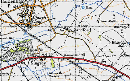 Old map of Aston Sandford in 1946
