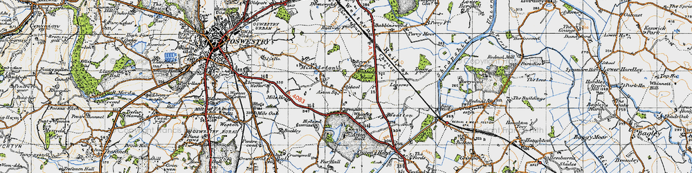 Old map of Leasowes The in 1947