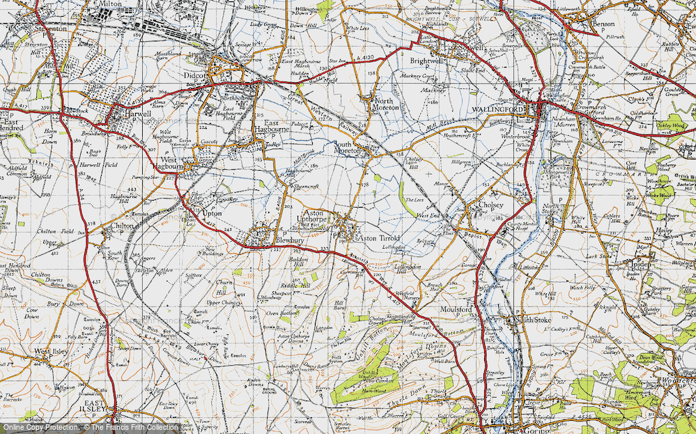 Old Map of Aston Upthorpe, 1947 in 1947