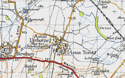 Old map of Aston Upthorpe in 1947
