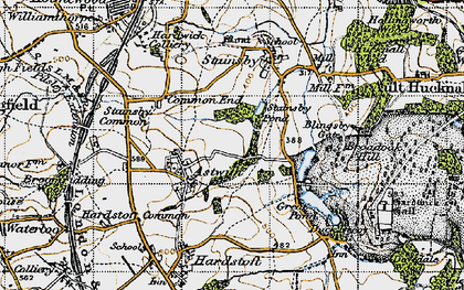 Old map of Astwith in 1947