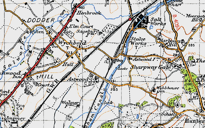 Old map of Astwood in 1947