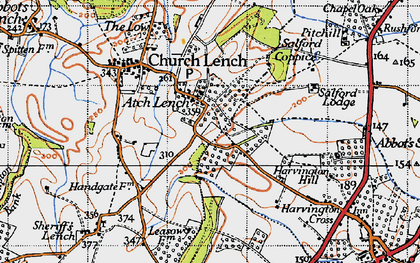 Old map of Atch Lench in 1946