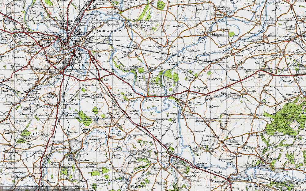 Old Map of Atcham, 1947 in 1947
