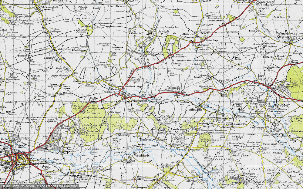 Athelhampton, 1945