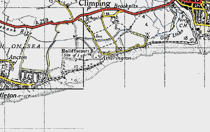 Old map of Atherington in 1945