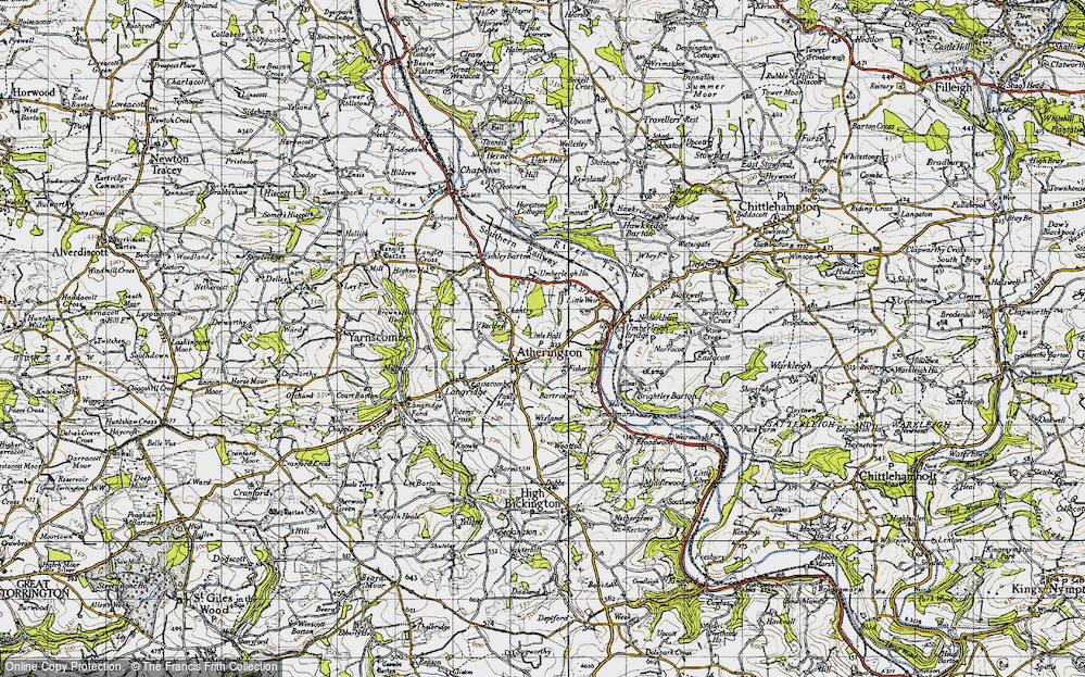 Old Map of Atherington, 1946 in 1946
