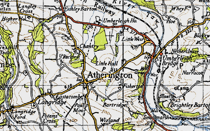 Old map of Atherington in 1946