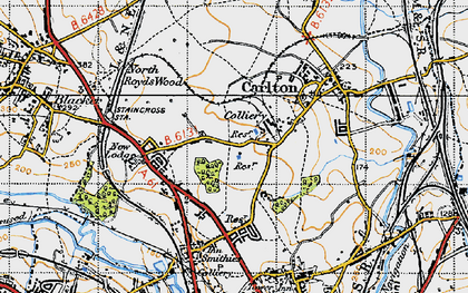 Old map of Athersley North in 1947