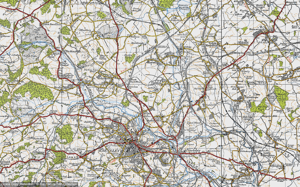 Old Map of Athersley South, 1947 in 1947