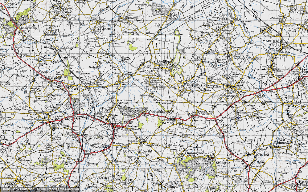 Old Map of Atherstone, 1945 in 1945
