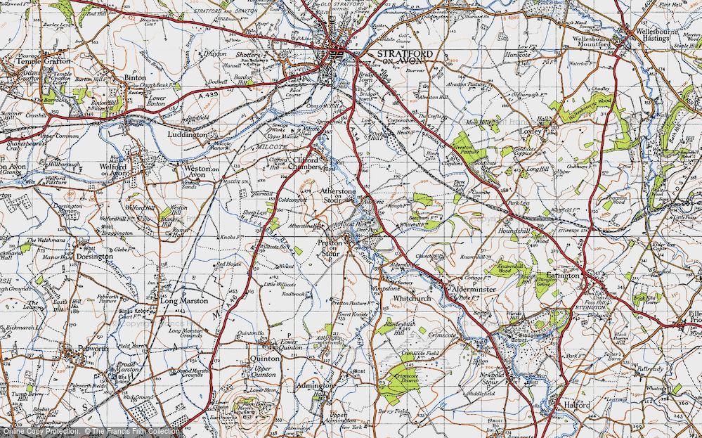 Old Map of Atherstone on Stour, 1946 in 1946