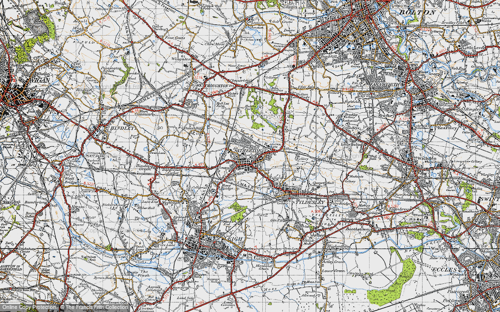 Old Map of Atherton, 1947 in 1947