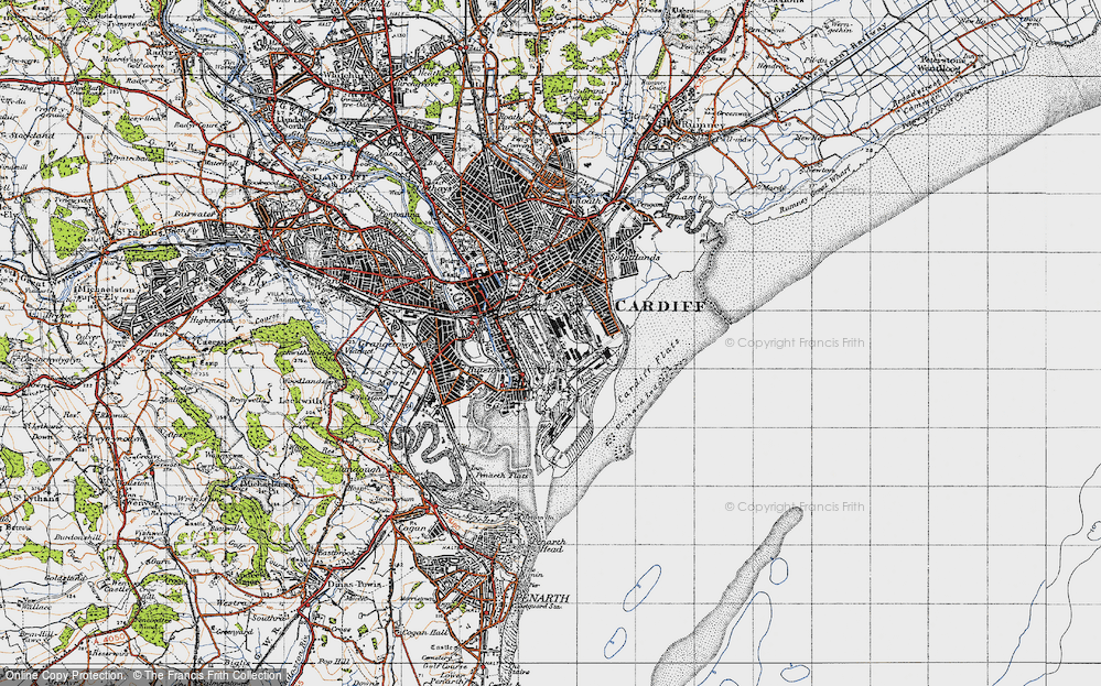 Old Map of Atlantic Wharf, 1947 in 1947