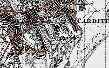 Old map of Atlantic Wharf in 1947