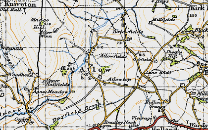 Old map of Atlow in 1946