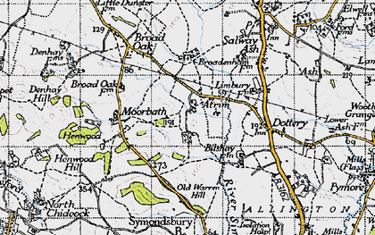 Old map of Atrim in 1945