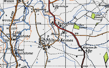 Old map of Atterbury in 1946