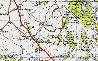 Old map of Atterley in 1947