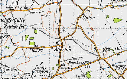 Old map of Atterton in 1946