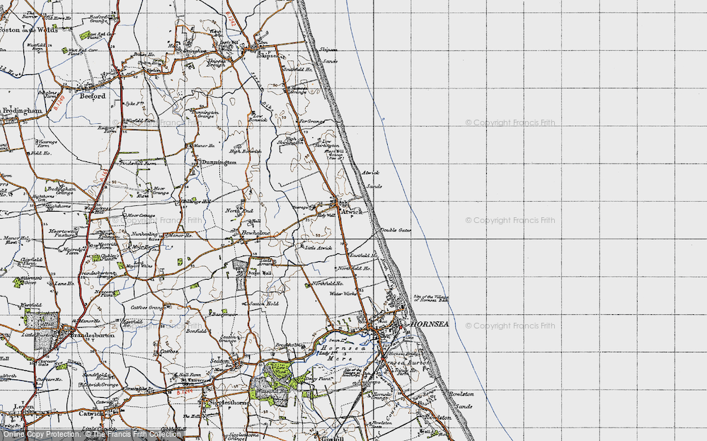 Old Map of Atwick, 1947 in 1947