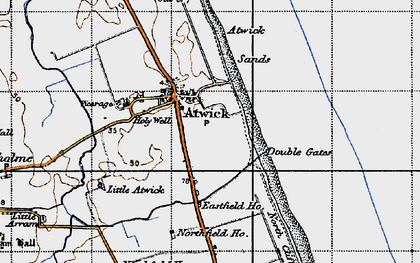 Old map of Atwick in 1947